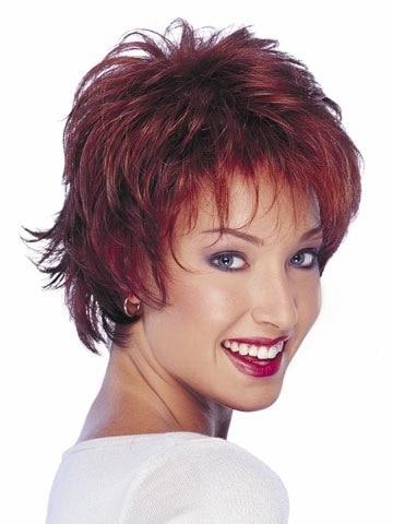 2015 Peluca Short Haircuts Layers Pixie Cut Synthetic Hair Wigs Wavy