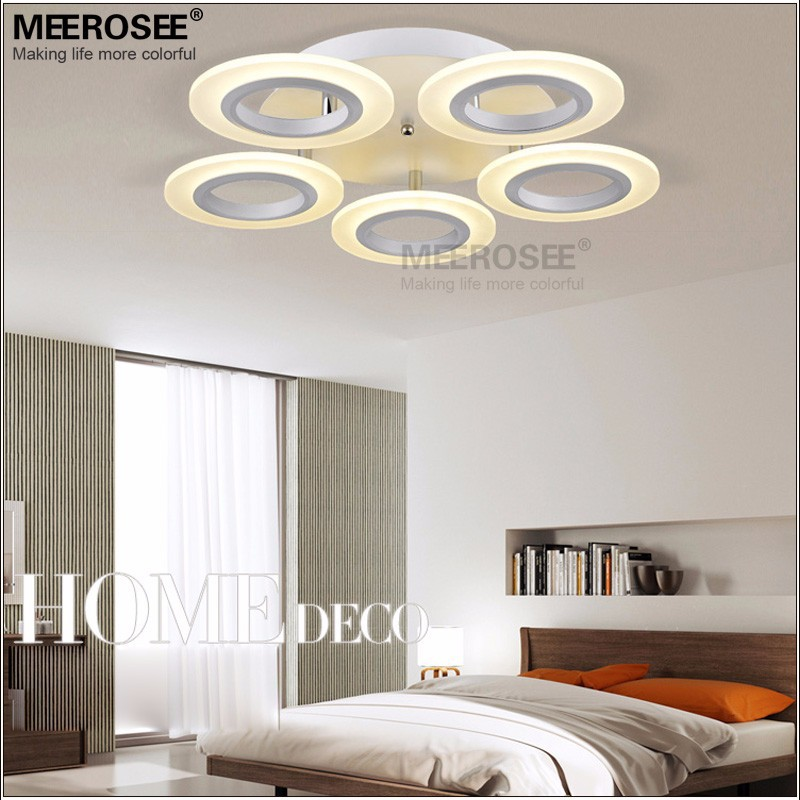 Plafond moderne à LEDs lumières encastré blanc Led allée plafond couloir porche lumière lampara De Techo acrylique circulaire lampe à Led