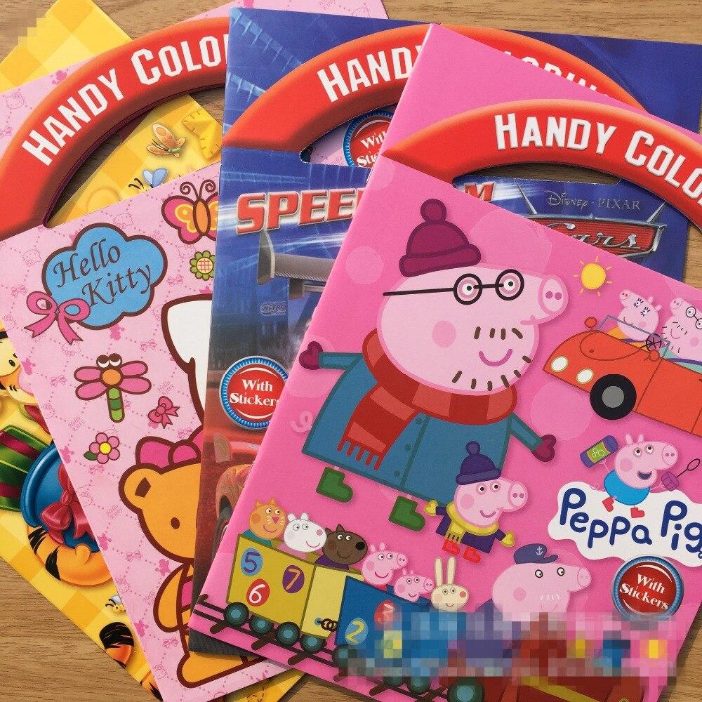 Graffiti art diy - Aliexpress Com Buy 1pcs Coloring Book Kids Cartoon Diy Stickers Children Drawing Sketch Painting Graffiti Art Suppsupp Lies Educational Toys From Reliable