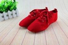 China Famour Brand Design ShanSha Canvas canvas Leather Jazz Shoes Ballet Dance split Heels Sole Shoe for Girls 4012