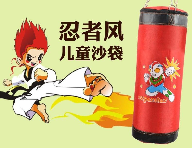Nouveau 60 cm entraînement Fitness enfant sac de boxe crochet suspendu saco de boxe coup de pied sac de combat sable poinçon sac de frappe sac de sable