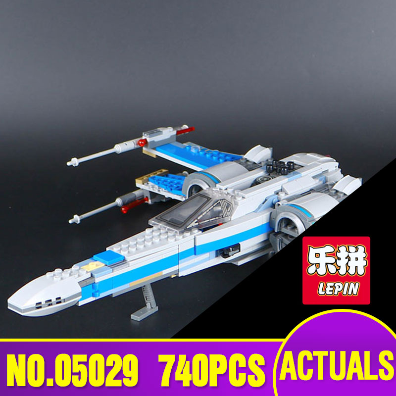 LEPIN 05029 Star Series Wars X fighter wing KIDS TOY Educational Building blocks assembled Compatible Toys Gifts 75149 hot sale building blocks assembled star first wars order poe s x toys wing fighter compatible lepins educational toys diy gift