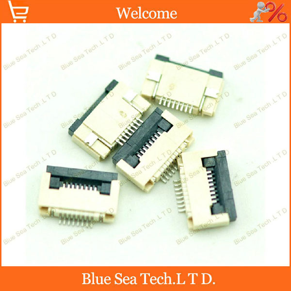 Sample,10pcs <font><b>FPC</b></font>/FFC connector <font><b>cable</b></font> socket <font><b>8</b></font> <font><b>pin</b></font> 0.5mm connector for LCD screen interface of DVD/GPS/MP3/PDA/Phone ect.ROHS image
