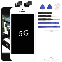 50pcs No Dead Pixel LCD Display For IPhone 5 Complete With Touch Screen Digitizer Assembly Screen