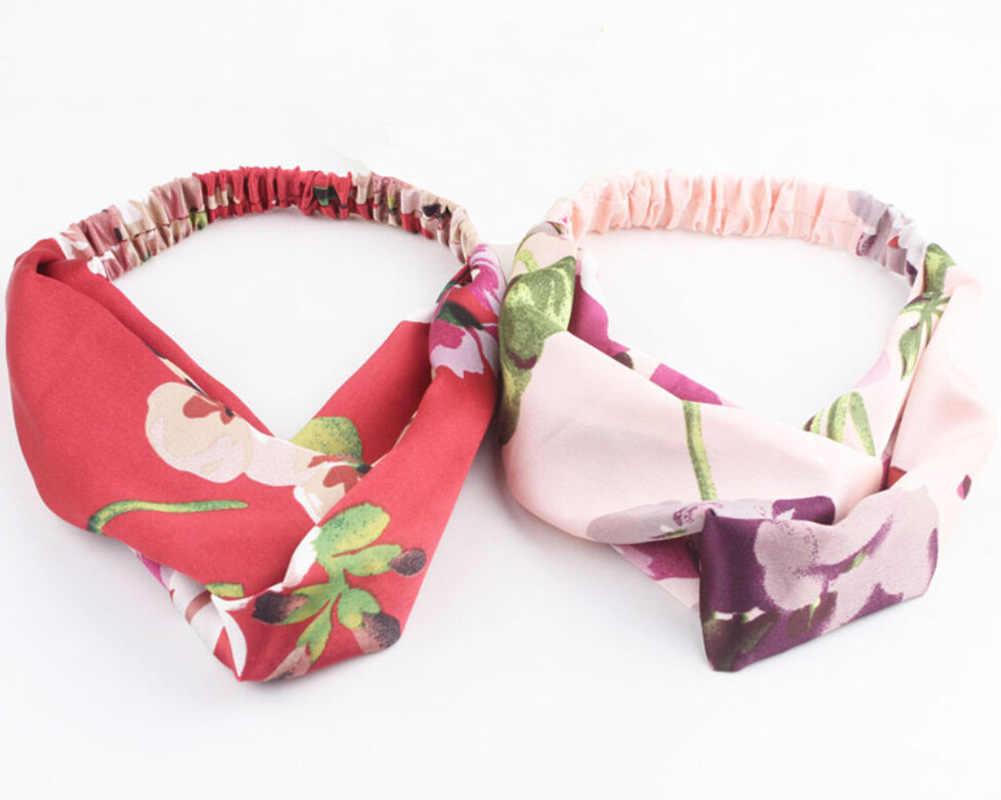 Женская повязка на голову с принтом, эластичные волосы резинки, женские аксессуары для волос в виде тюрбана haarbanden voor vrouwen