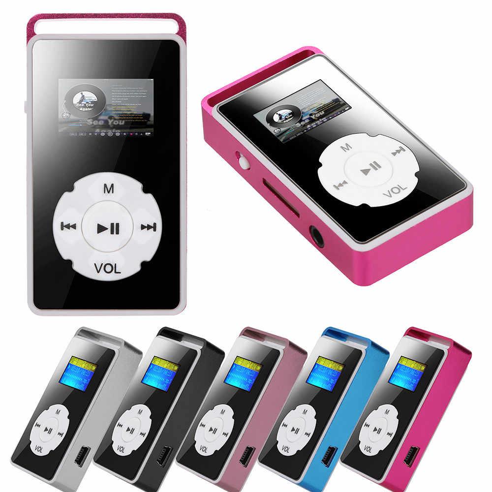 2019 mới thời trang Kỹ Thuật Số MP3 Máy Nghe Nhạc Màn Hình LCD Hỗ Trợ Micro SD TF Thẻ 32G Gương Âm Nhạc Phương Tiện Truyền Thông
