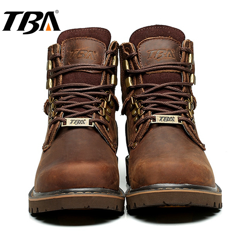 TBA Hiking Shoes Men Outdoors Trekking Boots Men's Winter Sneakers Breathable Leather Tactical Shoes Mountain Sport Hiking Boots 2017 tba men s shoes hunting mountain shoes lace up suede leather martin boots breathable outdoor hiking shoes t5983