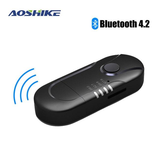 Aoshike fm transmissor bluetooth reciever fm modulador rádio mãos livres carro kit mp3 player de áudio com usb carregador de carro tf u