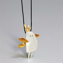 925 Sterling Silver Jewelry Lovely Gold Chicken Clavicle Chain Necklaces & Pendants For Women
