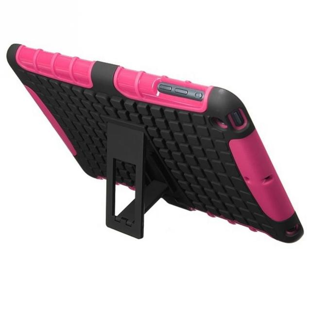 Luxury Stand TPU Case For iPad mini 1 / 2 Heavy Duty Hybrid Silicone Rugged Stand Hard Case Cover For Apple iPad Mini 2 1