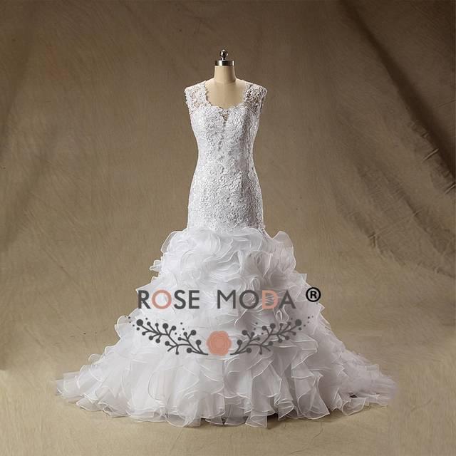 placeholder Rose Moda Peach Blush Pink Wedding Dress Cap Sleeves Lace  Mermaid Wedding Dresses Plus Size Real 61c82a43b73f