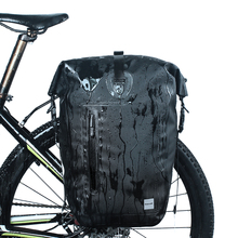 цена на 25L Waterproof Bike Bag MTB Road Bike Bicycle Rear Rack Pannier Bag Cycling Rear Seat Bag Shoulder Bag Bike Accessories