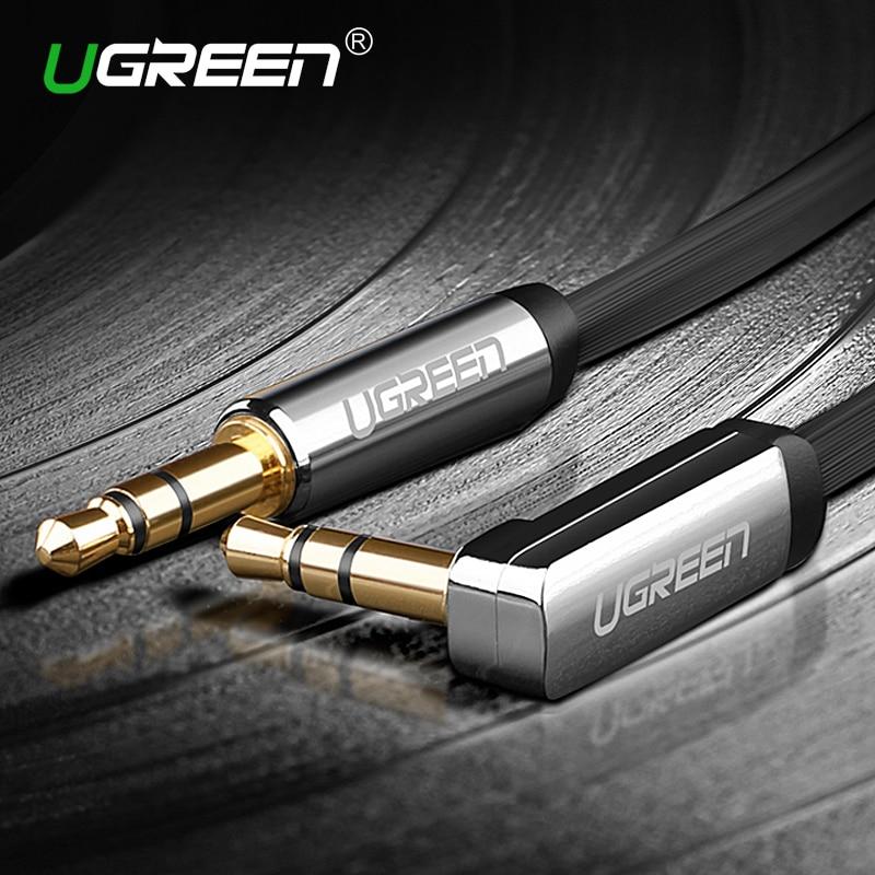 font b Ugreen b font 3 5mm audio cable 90 degree right angle flat jack
