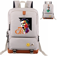 Women Men Cristiano Ronaldo CR7 Backpack Student School Travel Bag Laptop Bag for Football Fans