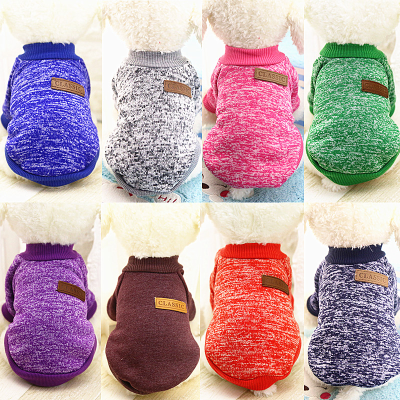 New Pet Dog Clothes for dogs Chihuahua Pet Coat Jacket Clothes Winter Warm Cotton Cat Hoodies Sweatshirt roupas para cachorro 30