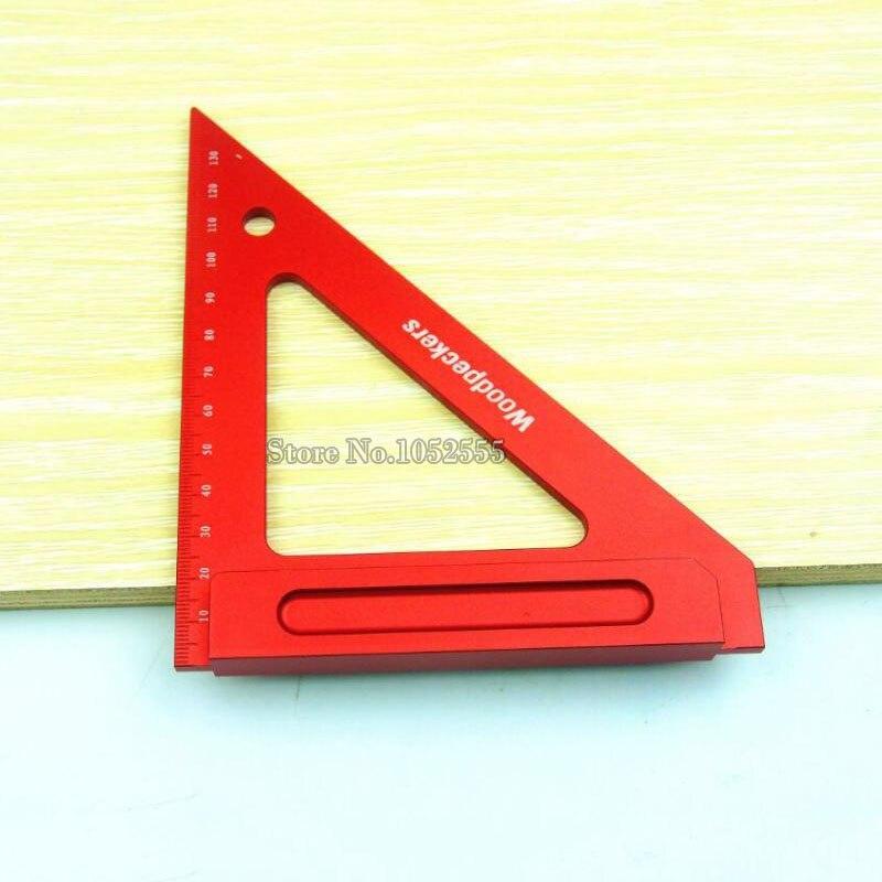 ФОТО Free Shipping Aluminum woodworking crossed triangle ruler,gauge tool