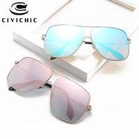 CIVICHIC Heiße Mode Unisex Große Sonnenbrille Männer Frauen Straße Snap Oculos De Sol UV400 Hipster Brillen Gradienten Gafas E357
