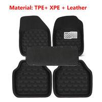 Universal Car Floor Mats Front & Rear Carpet Auto Black Skidproof Mat 5pcs/Set