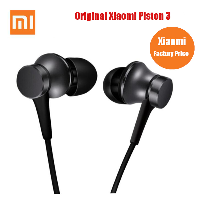 Original Xiaomi Earphone Mi Piston 3 Fresh Version In-Ear with Mic Wire Control for mobile phone xiaomi earphones headset(China)