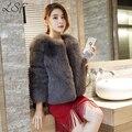 2016 Imitación de Las Mujeres Abrigo de Piel Abrigo de Piel Femenina Corta Del O-cuello Grueso Warm Fur Veste Femme Fausse Fourrure Plus Tamaño XXXL Faux Fox de piel