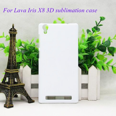 for Lava Iris X8 3D Premuim Quality DIY sublimation blank case , Print Directly without metal inserts.50pcs/lot