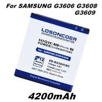 LOSONCOER 4200 mAh EB-BG360CBC para Samsung Galaxy Core primer batería G360 G3608 G3606 G3609 G360 Galaxy J2 ganar 2 Duos TV G360BT