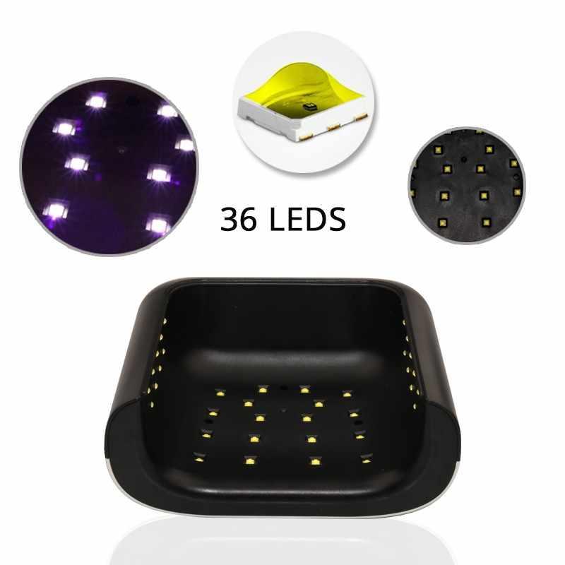 Smart 2,0 Sun3 secador de uñas 48 W UV lámpara LED de uñas con temporizador inteligente memoria Invisible temporizador Digital de uñas máquina de secado