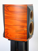Customized make 5.5'' 6.5'' inch empty bookshelf speaker case/cabinet/chassis/box color dark or light random choose