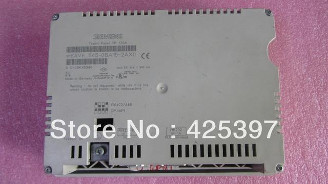 A segunda mão e original HMI 6AV6545-0BA15-2AX0 com boa qualidade 100% testado ok garantia 120 dias
