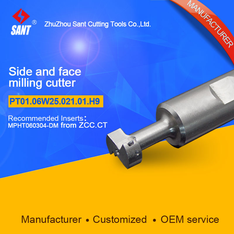 Indexable milling cutter Match insert MPHT060304 Side and face milling cutter disc PT01.06W25.021.01.H9/TMP01-021-XP25-MP06-01
