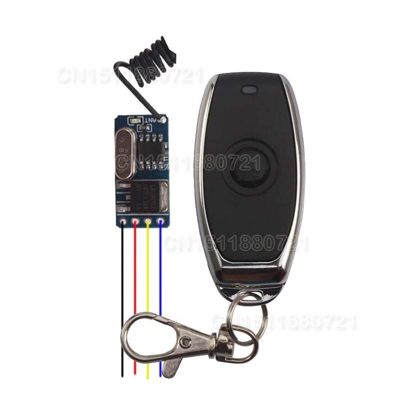 Mini Size Remote Switch 3.7V 4.2V 5V 6V 7.4V 9V 12V Micro No Noise Wireless Remote Control Switch Small RF RX TX dc24v remote control switch system1receiver