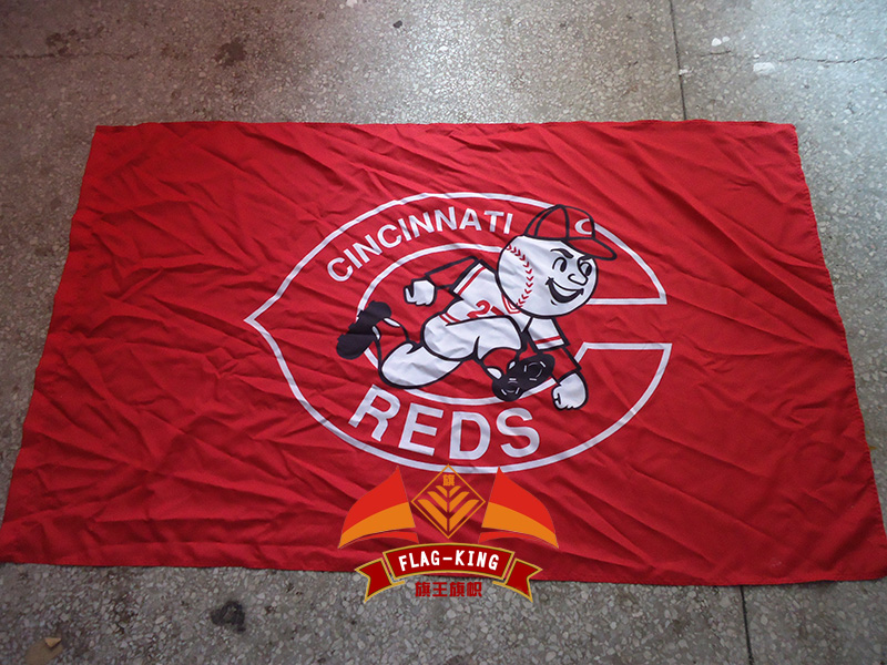 cincinnati reds basketball club flag,cincinnati reds 90*150CM polyester banner,flag king brand, free shipping