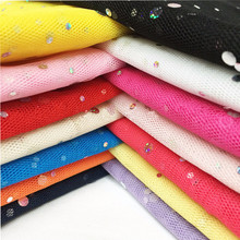 150cm Width Glitter Sequin 91cm/lot Middle Hard Tulle Mesh Fabric Roll Wedding Sewing DIY Organza Tutu Skirt Accessories