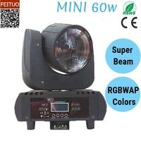 Бесплатная доставка Яркий 60 w Лира луч светодиодный перемещение головы светлое пятно этап эффект RGBWA розовый 6IN1 звук активных вечерние DJ дис
