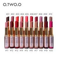 O TWO O 20pcs Lot Brand Makeup Lipstick Popular Matte Lip Waterproof Lipstick Lips Long Lasting
