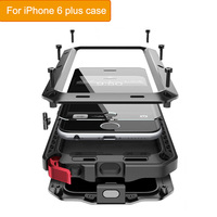 Classic Luxury Metal Case For Iphone 6 Plus Armor Outdoor Shockproof Aluminum Life Waterproof Case Cover