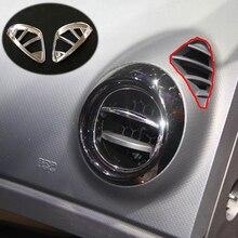 Per Renault Captur 2015 2016 2017 ABS bicromato di potassio della copertura contorno rilevatore di assetto anteriore Air condition Uscita Vent Car styling Accessori