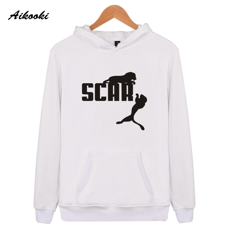 Aikooki Scar Women Mens Hoodie Sweatshirts White Fashion Streetwear Funny Hooded Sweatshirts Hoodies Men Sportswear Clothes