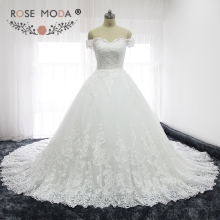 Rose Moda Luxury Wedding Dresses Cathedral Train Ball Gown