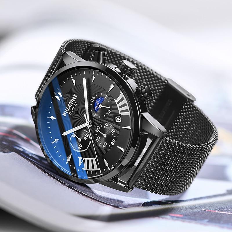 Mens Watches Top Luxury Brand Mens Wristwatch Clock Fashion Quartz Watch Men Sports Waterproof Watches Male Chronograph Clock 43