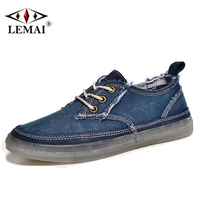 Cool Vintage Denim Men Skateboarding shoes Autumn Super Popular Outdoor Sports Shoes Young Training Sneakers ZS16106-1
