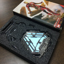 1:1 scale Iron Man Mark47 MK50 Nano Suit Armor Arc Reactor LED Light Action Figure Collection Model Toy Include Display Stand 1 1 scale iron man arc reactor with led light iron man figure homem de ferro pvc action figure toys