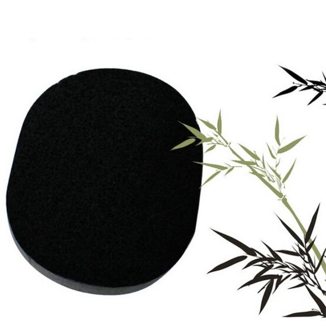 1 шт. очищающие средства для лица Pad Магия бамбуковый уголь черный натуральное волокно Макияж pad Умывания Очищающий Губка слоеного Pad Лицо уход за B3
