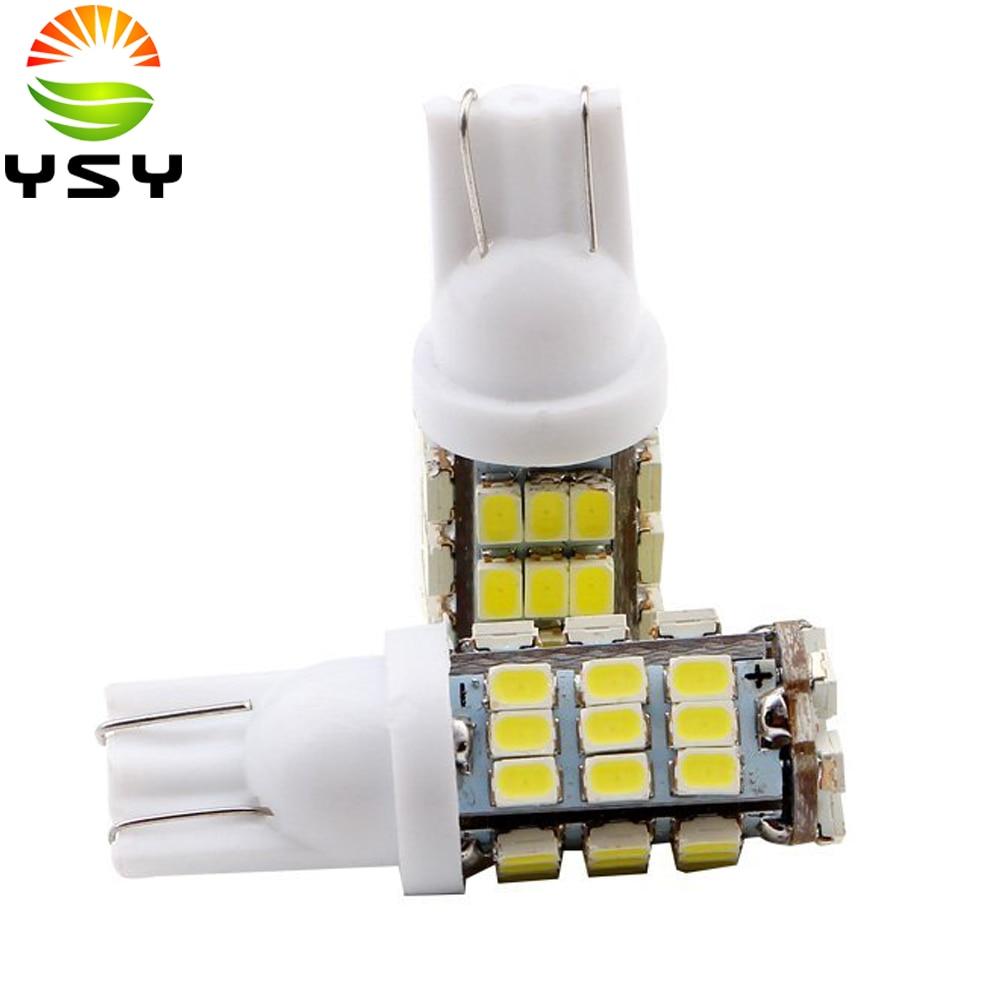 100x/Lot 12V White T10 1206 42 SMD LED Auto Led Light Bulbs W5W Car Side Wedge t10 led lamp car styling light