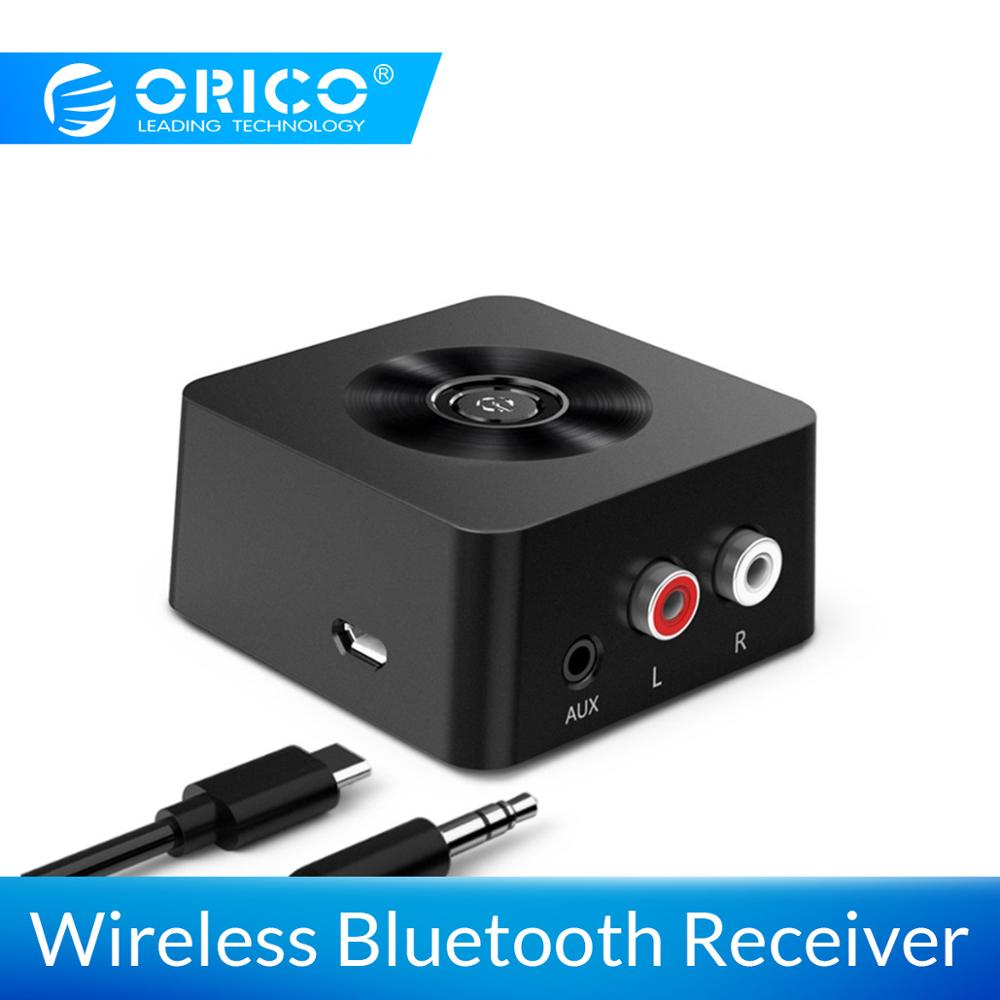 ORICO Wireless <font><b>4.0</b></font> <font><b>Bluetooth</b></font> <font><b>Receiver</b></font> Adapter 3.5mm to 2 RCA AUX Audio Music Adapter for Phone Tablet PC TV <font><b>Bluetooth</b></font> Devices image