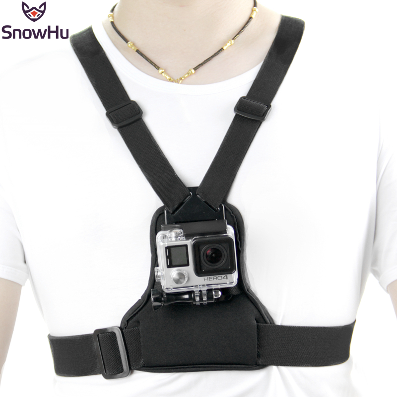 SnowHu For Gopro Accessories Elastic Body Chest Harness Strap Mount Belt For Go Pro Hero 8 7 6 5  Xiaomi YI Action Camera GP204