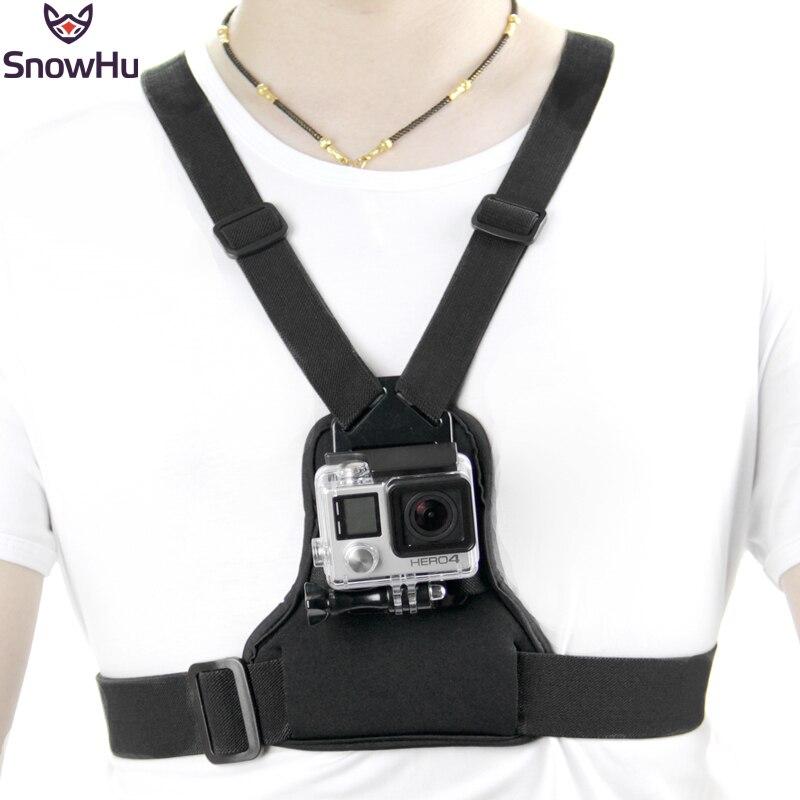 Snowhu para gopro Accesorios elástico Cuerpo correa del montaje de la correa para Go Pro Hero 6 5 4S 3 + xiaomi Yi acción Cámara tp204