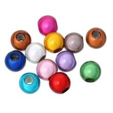 DoreenBeads Acrylic European Style Charm Beads Round At Random Miracle/Illusion About 12mm x 11mm,Hole: Approx 4.8mm,50 PCs