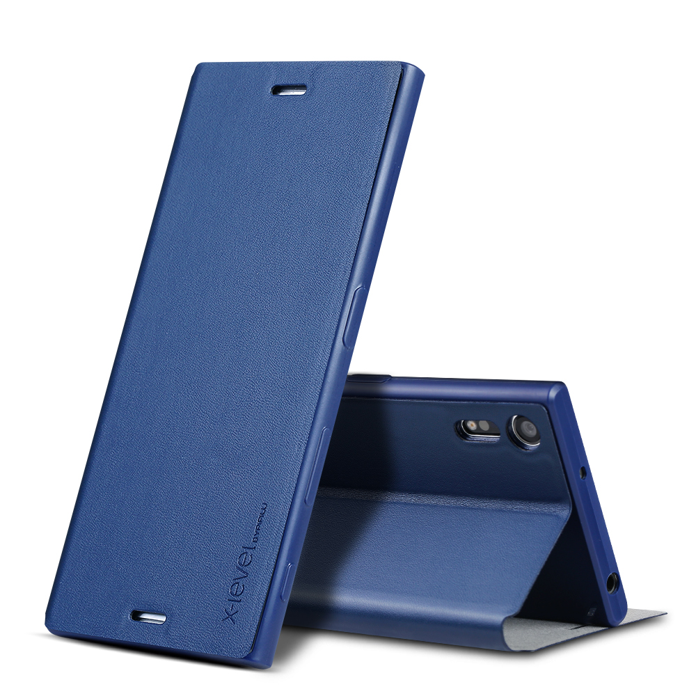 X-level de lujo pu Funda de cuero para Sony Xperia xa1 ultra Z3 Z4 Z5 Plus xz Premium Flip cover para Sony E5 XA ultra C6 caso del soporte