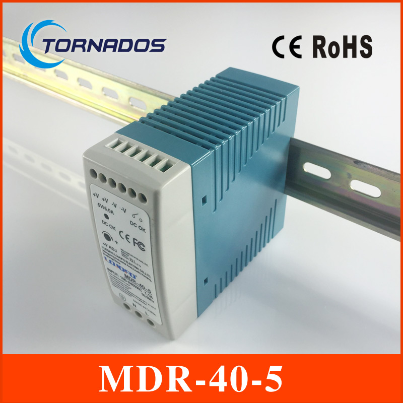 MDR-40-5 Industrial DIN rail Mini switching power supply for LED driver 5v 6A 30W ac dc LED Driver switching power supply 5v ccfl inverter instead of cxa m10a l 5 7 inch industrial screen high pressure lm 05100 drive